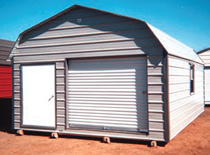 metal storage barn